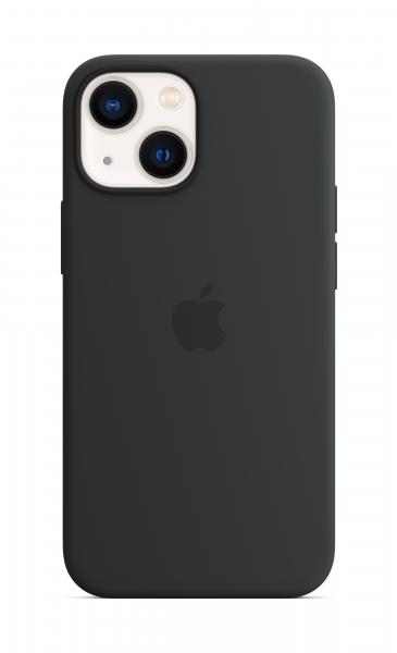 Apple Silikon Case iPhone 13 mini mit MagSafe mitternacht