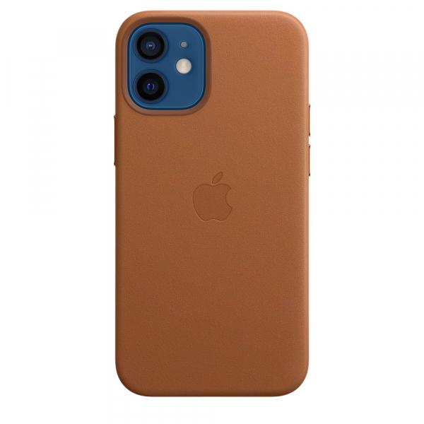 Apple Leder Case iPhone 12 mini mit MagSafe sattelbraun