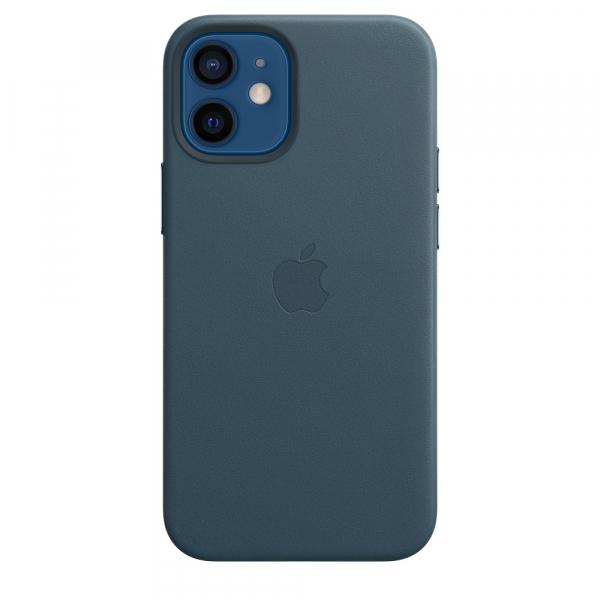 Apple Leder Case iPhone 12 mini mit MagSafe baltischblau