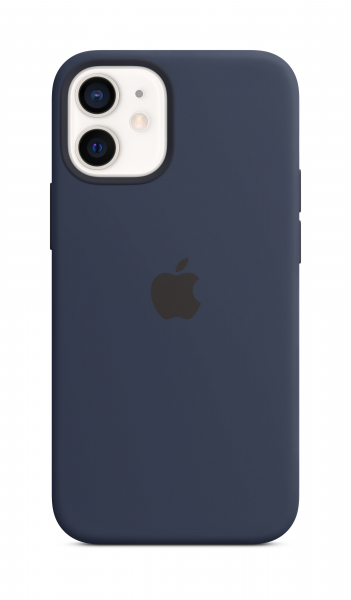 Apple Silikon Case iPhone 12 mini mit MagSafe dunkelmarine