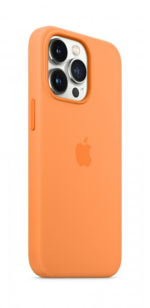 Apple Silikon Case iPhone 13 Pro mit MagSafe gelborange