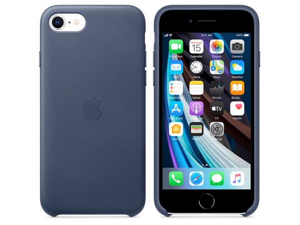 Apple Leder Case iPhone SE 2 Gen. mitternachtsblau