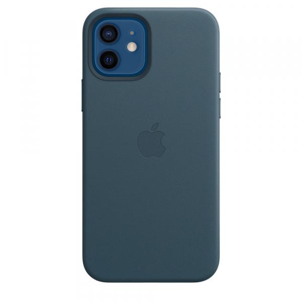 Apple Leder Case iPhone 12/12 Pro mit MagSafe baltischblau