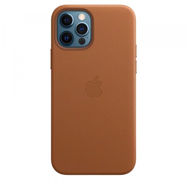 Apple Leder Case iPhone 12/12 Pro mit MagSafe sattelbraun