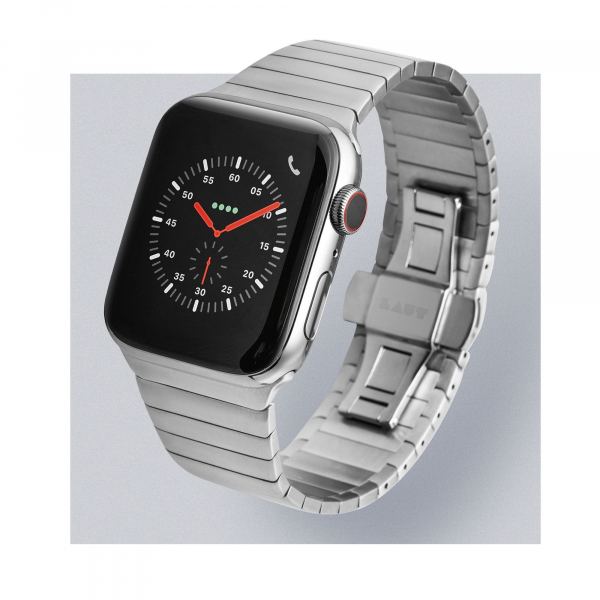 LAUT Links Apple Watch 42 / 44 mm silber